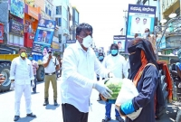 Madhu Distribute Vegetables, Rice  title=