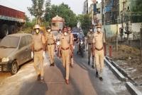 Policemen in Vijayawada Red Zone  title=