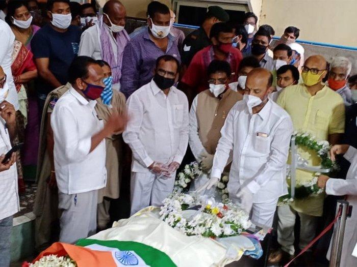 Tearful Goodbye To Santosh Babu