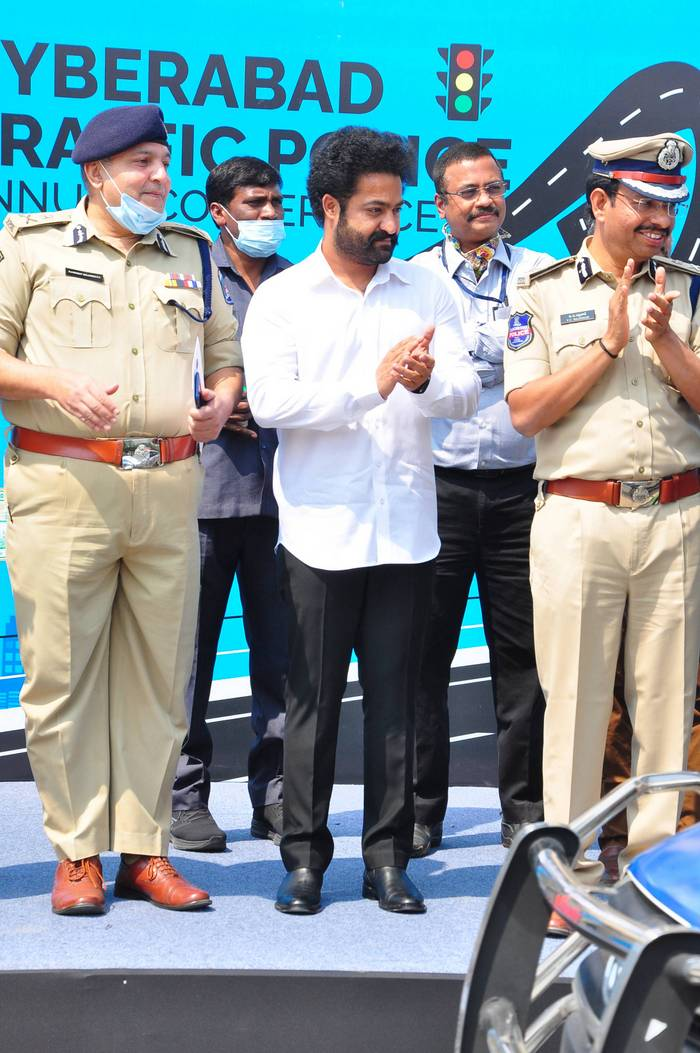 NTR at Cyberabad Traffic Police